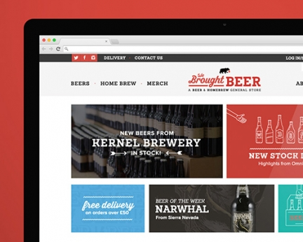We Brought Beer – Identity & Online Store